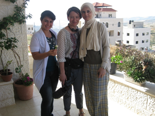 Lubna, Muireann and Haya in Nablus